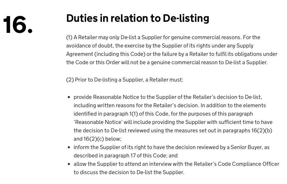 GSCOP Delisting