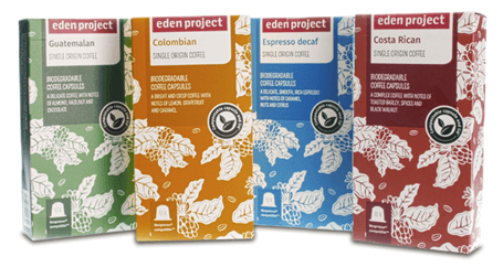 Eden Project Launches 100 Home Compostable Coffee Capsules